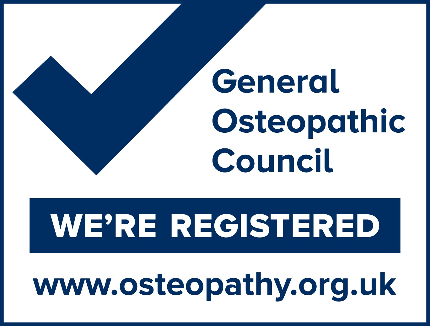 General Osteopath Council registeration