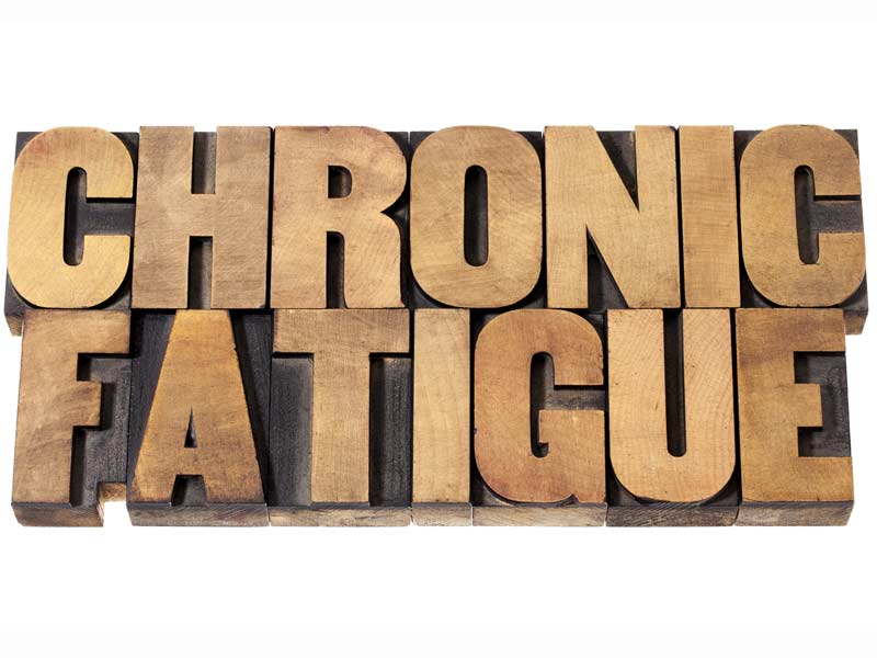 Wooden plaque saying Chronic Fatigue
